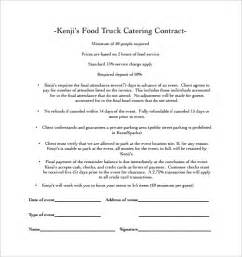 Contract Letter For Catering Catering Contract Template 13 Free Documents In Word Pdf