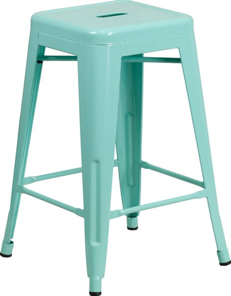 mint green counter stools 24 high backless mint green indoor outdoor counter