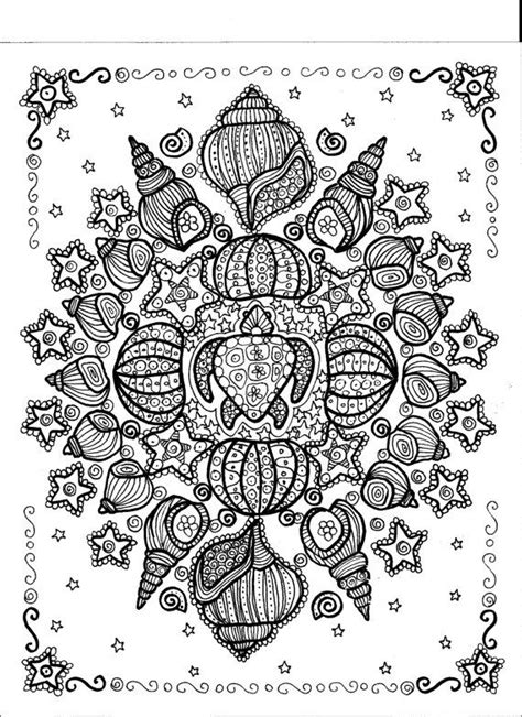 Instant Download Turtle Shell Mandala You be the Artist