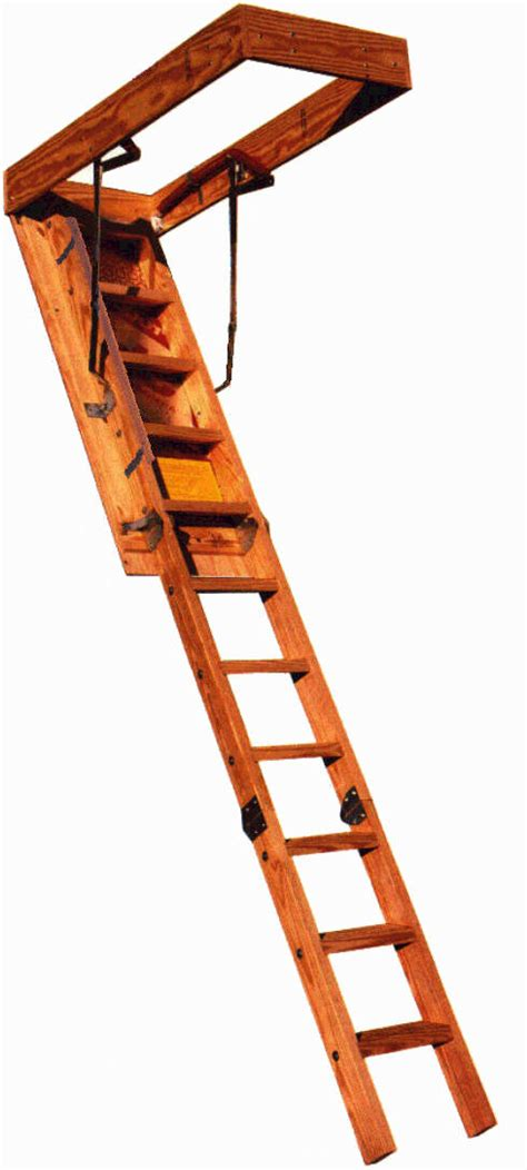 Wooden Loft Ladder With Handrail Memphis Folding Stairs Heavy Duty Stairs Ultimate