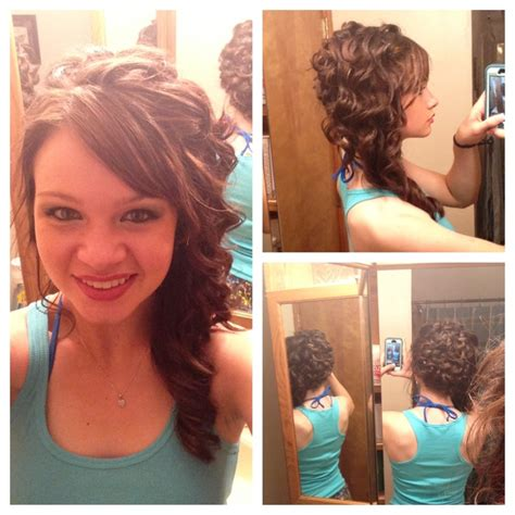 prom hairstyles down one side prom hair curled to one side hair styles pinterest