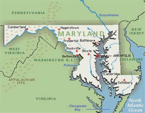 maryland map facts 10 interesting maryland facts my interesting facts