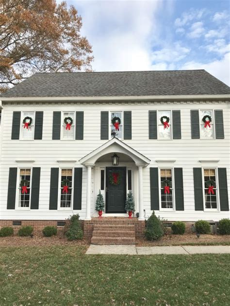 white colonial homes christmas snapshots around our house emily a clark