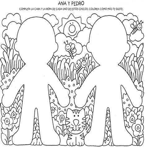 dibujos infantiles videos para niños dibujos del cuerpo humano para ni 241 os para colorear