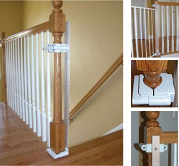 top of stairs banister baby gate custom baby gate wall and banister no holes installation kit baby safe homes