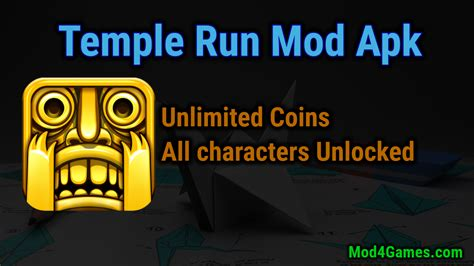 temple run hack apk temple run mod apk unlimited coins all characters unlocked mod4games