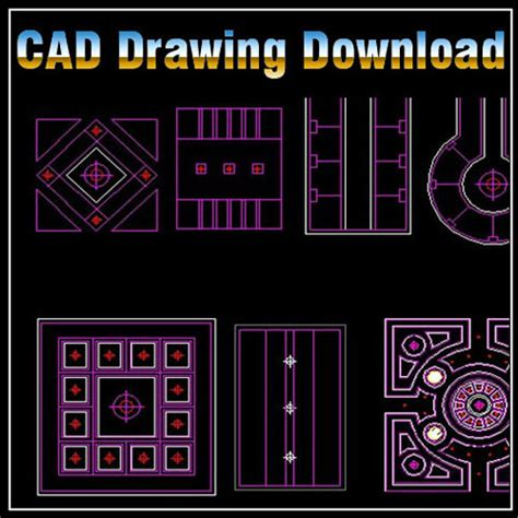 Ceiling Plan Dwg by Ceiling Design Template Cad Library Autocad Blocks