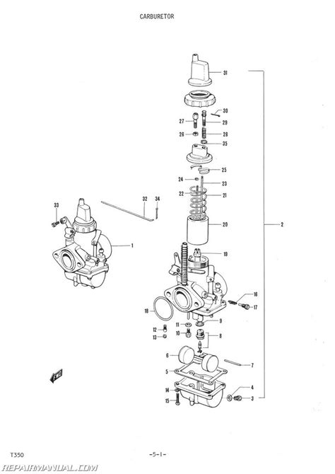Suzuki T350 Parts 1972 Suzuki T350 Parts Manual