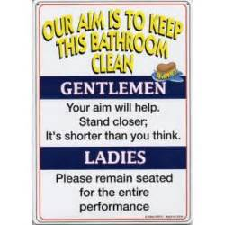 Our aim is to keep this bathroom clean metal sign