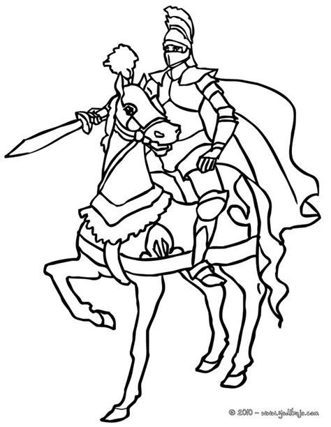 caballero infantil caballero fantasia dibujo projecte dibujos para colorear caballero adriestrando su caballo
