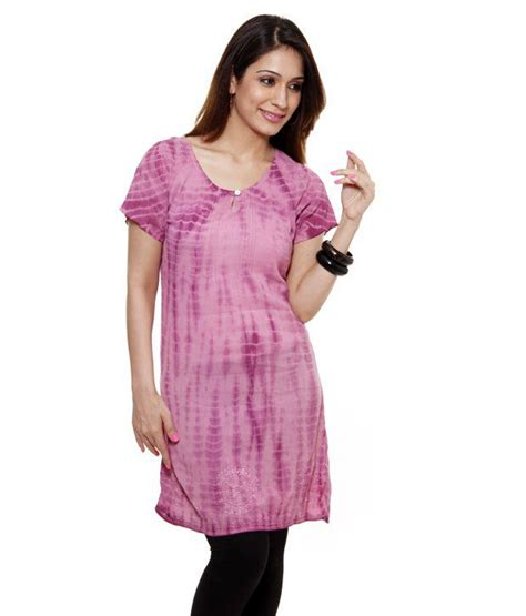 7 Lovely Tunics by Buy Jiwan Lovely Lilac Pink Cotton Tunic Top At