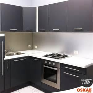 cuisine grise porte effet soft touch ginko gris mat