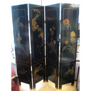 Asian Room Divider Dual Sided 4 Panel Asian Screen Japanese Room Divider At 1stdibs