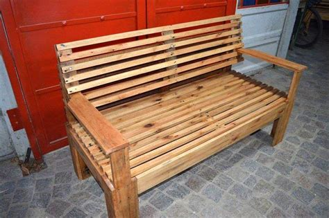 bench pallet wooden bench made of pallets 101 pallets