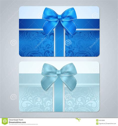 Gift Card At Discount - gift card discount card scroll pattern bow stock photo image 35018580