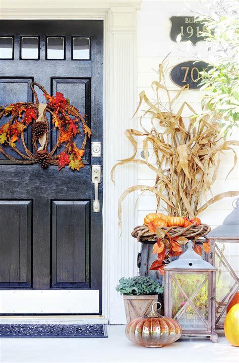 twelve fall door decorating ideas thistlewood farm
