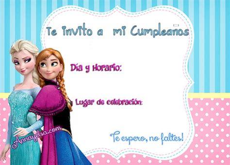 imagenes de frozen que digan feliz cumpleaños invitaciones de cumplea 241 os de frozen para descargar gratis