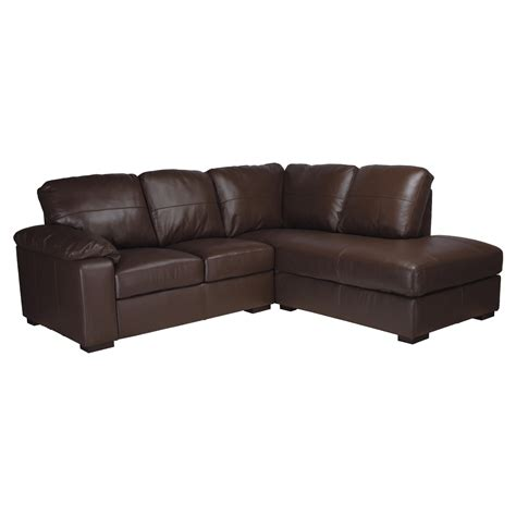 Ashmore Leather Sofa Bed Home And Garden Gt Furniture Ashmore Leather Corner Chaise Sofa Bed Brown Left Facing