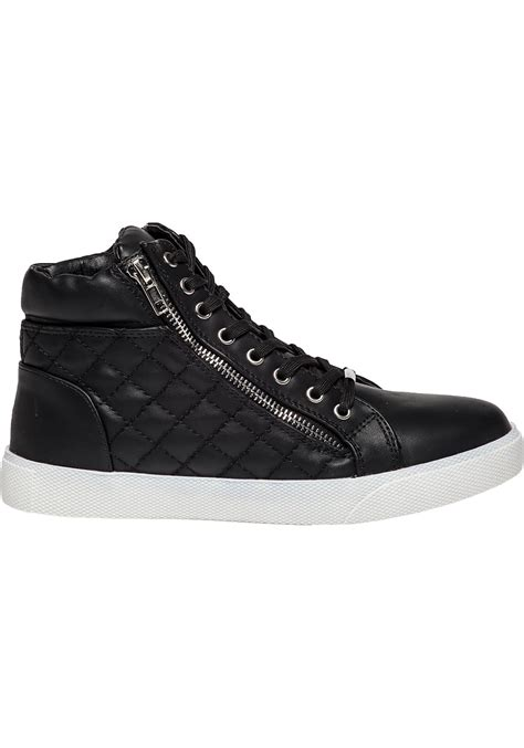 Steve Madden Quilted Sneakers For by Steve Madden Decaf Black Quilted Leather Sneaker In Black Lyst