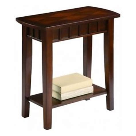 narrow accent table side end table narrow shelf furniture dentil nightstand