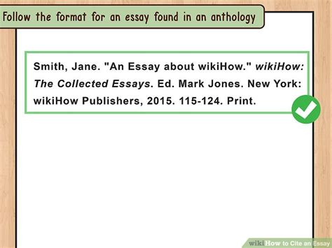How To Cite A Website In An Essay by 4 Ways To Cite An Essay Wikihow
