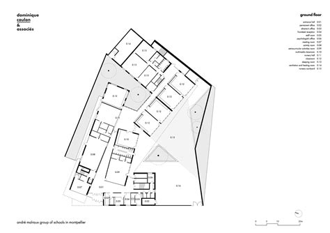 Plan Ground Floor Gallery Of Andr 233 Malraux Schools In Montpellier