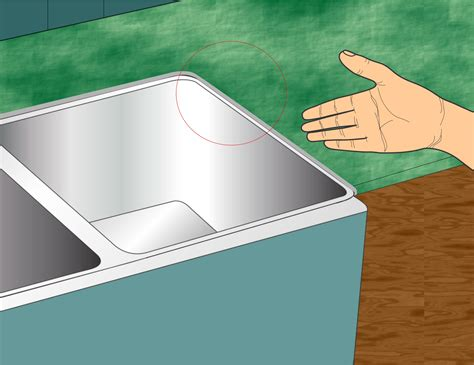 kitchen sink caulk how to caulk the kitchen sink with pictures wikihow