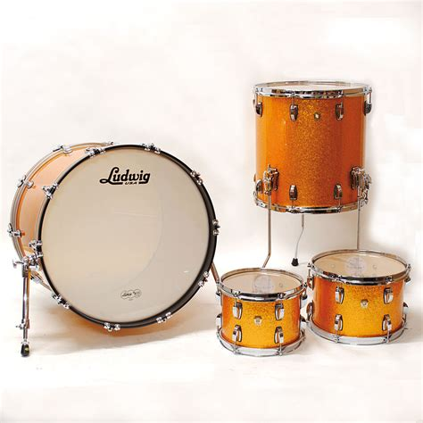 Ludwig Classic Maple 22 Quot Gold Sparkle 171 Drum Kit
