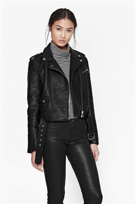 Faux Leather Jacket by Generation Faux Leather Biker Jacket Collections