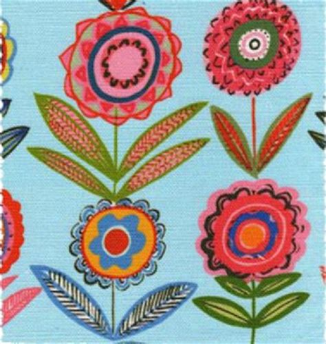 cutting fabric for curtains cut flowers blue 68cms medium bright fabric for curtains
