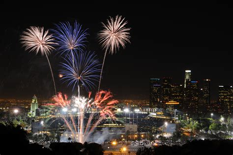 new year los angeles events where to see the rocket s glare fireworks in and