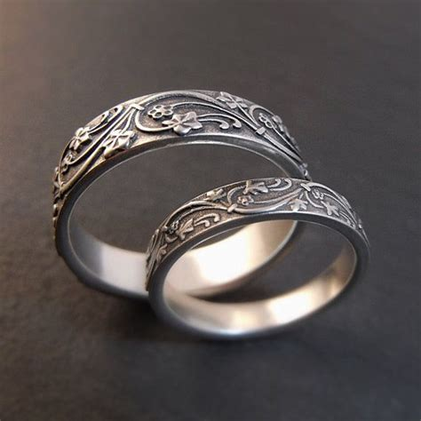 Wedding Bands Seattle by Wedding Band Set Deco Wedding Rings In Sterling