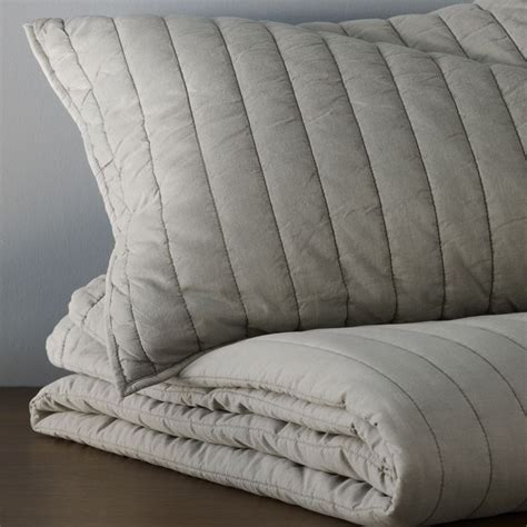 Channel Stitch Coverlet West Elm by West Elm Washed Channel Stitch Quilt Grimlodge
