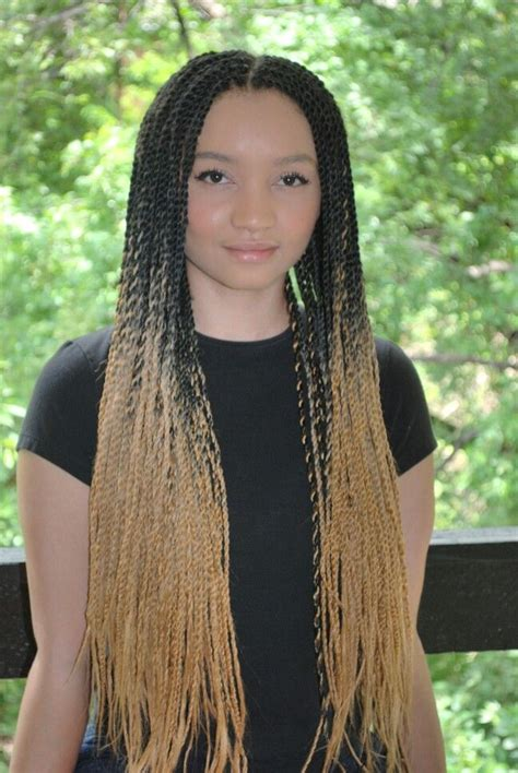 ombre senegalese twists braiding hair ombre senegalese twists protective styles pinterest
