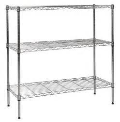 nsf metal shelving apollo chrome 3 shelf nsf wire shelving rack with wheels