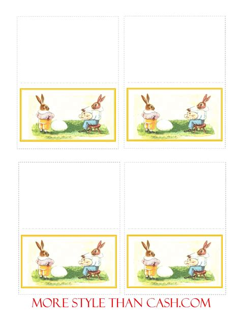 easter place card template printable easter cards templates design