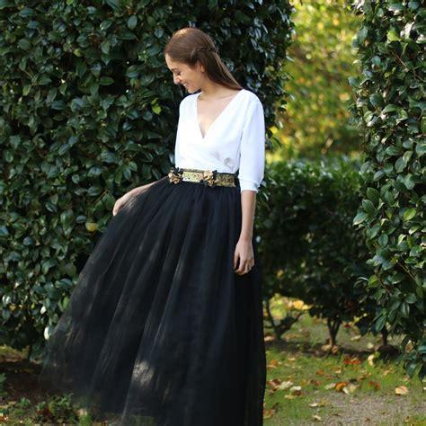 faldas y blusas para bodas 2016 falda carrie negra larga colores blancos cinturones y falda