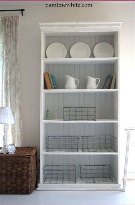 I Love This Simple White Bookshelf With Beadboard Shelf White Beadboard Bookcase