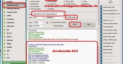 mtk android pattern unlock volcano flash ur mobile kechaoda k22 mtk 625a cpu read flash done