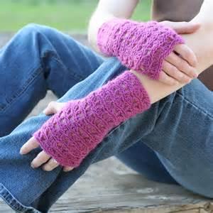 Lace Fingerless Gloves Crochet Pattern » Home Design 2017