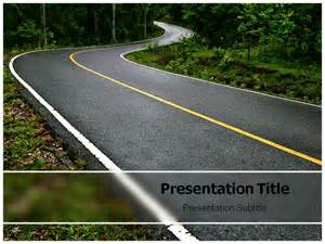 powerpoint template road road winding powerpoint templates and backgrounds