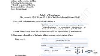 articles of organization llc template articles of organization llc sle