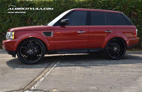 burgundy range rover black rims 26 quot 2 crave no 11 matte black 2008 range rover hse