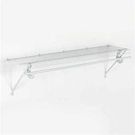 closetmaid hanger shelf closetmaid 8279 24 inch wide laundry utility hanger shelf