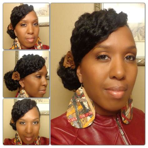 natural hairstyles with swoop side bun and textured swoop bangs natural hair styles