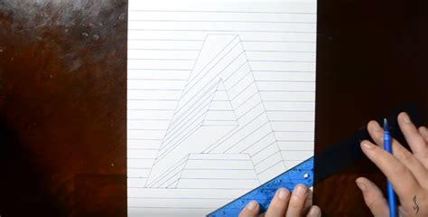 tutorial menggambar untuk pemula cara menggambar 3d di kertas dengan pensil untuk pemula