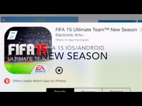 reset online seasons fifa 15 fifa 15 ios android new season fifa 16 update youtube