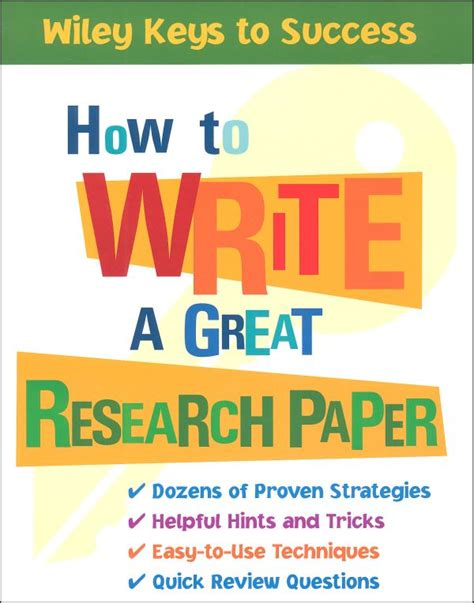 books to write a research paper on the different facets involved in writing a great research