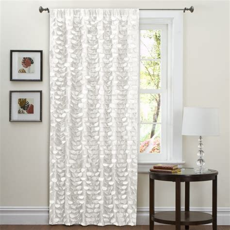 Lush Decor Curtains Lush Decor White 84 Inch Lilian Curtain Panel Contemporary Curtains By Overstock