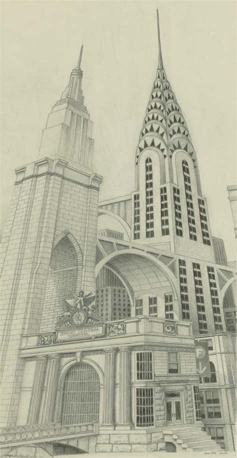 Sketches Nyc by Pencil Drawings Pencil Drawings New York